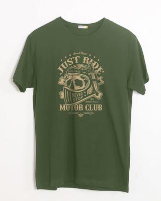 Shop Motor Club Half Sleeve T-Shirt-Front