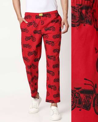 Shop Motor Way All Over Printed Pyjama-Front