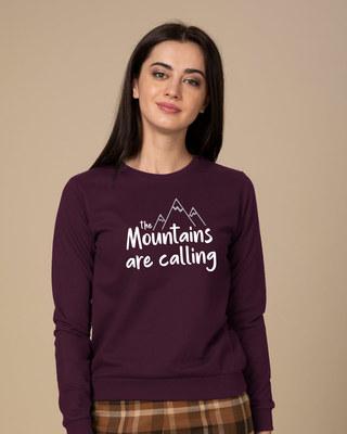 Shop Mountain Calling  Sweatshirt-Front