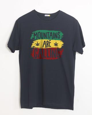 Buy Mountains Are Calling Rasta Half Sleeve T-Shirt Online India @ Bewakoof.com