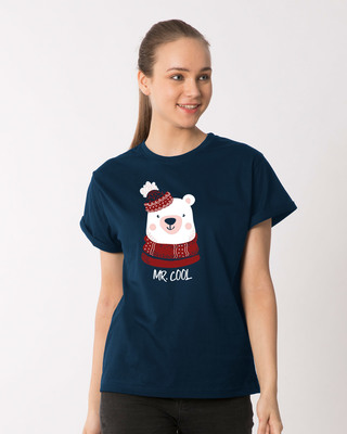 Shop Mr.cool Bear Boyfriend T-Shirt-Front
