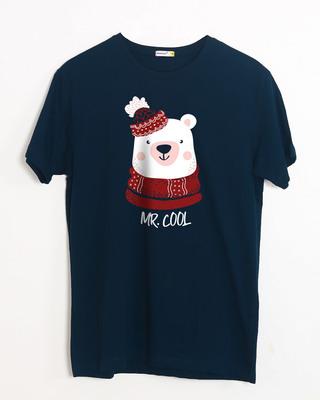 Shop Mr.cool Bear Half Sleeve T-Shirt-Front