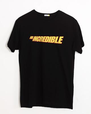 Buy Mr Incredible Typo Half Sleeve T-Shirt (DL) Online India @ Bewakoof.com