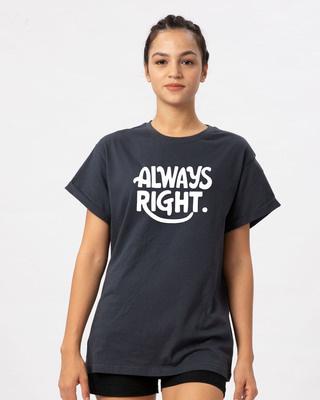 Shop Ms Right Boyfriend T-Shirt-Front