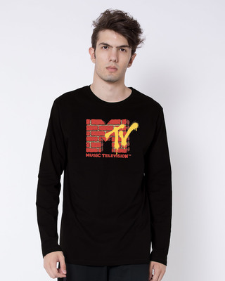 Shop Mtv Wall Full Sleeve T-Shirt (MTL)-Front
