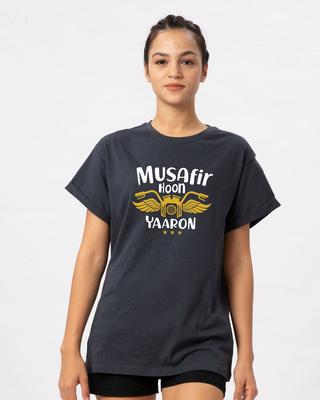 Shop Musafir Boyfriend T-Shirt-Front