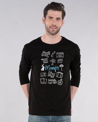 Shop Musafir Doodle Full Sleeve T-Shirt-Front