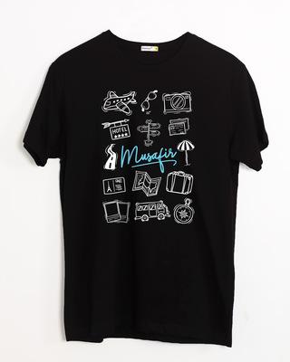 Shop Musafir Doodle Half Sleeve T-Shirt-Front