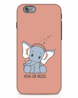 Shop Music Elephant iPhone 6 Mobile Cover-Front