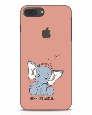 Shop Music Elephant iPhone 7 Plus Logo Cut Mobile Cover-Front