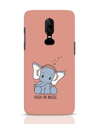 Shop Music Elephant OnePlus 6 Mobile Cover-Front