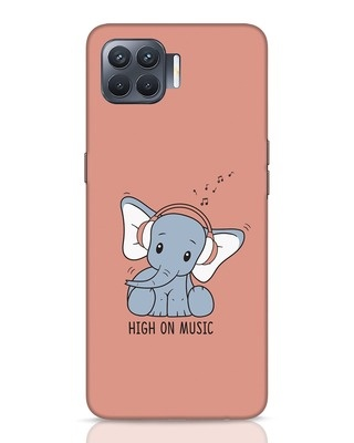 Shop Music Elephant Oppo F17 Pro Mobile Cover-Front