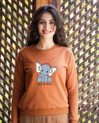 Shop Music Elephant Fleece Sweater-Front