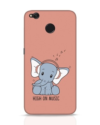 Shop Music Elephant Xiaomi Redmi 4 Mobile Cover-Front