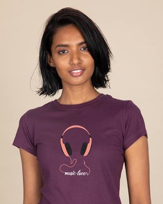 Shop Music Lover - Headphones Half Sleeve T-shirt-Front