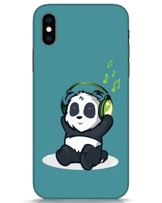Shop Music Panda iPhone XS Mobile Cover-Front