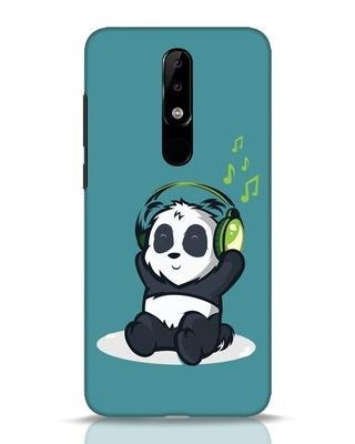 Shop Music Panda Nokia 5.1 Plus Mobile Cover-Front