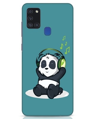 Shop Music Panda Samsung Galaxy A21s Mobile Cover-Front