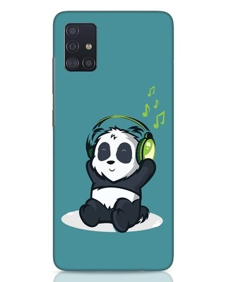Shop Music Panda Samsung Galaxy A51 Mobile Cover-Front