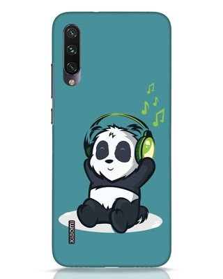 Shop Music Panda Xiaomi Mi A3 Mobile Cover-Front