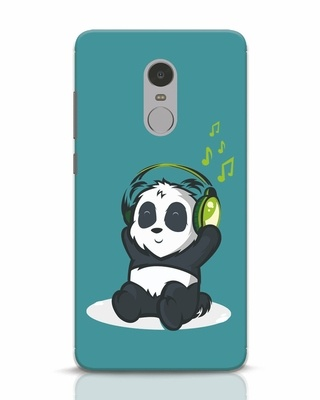 Shop Music Panda Xiaomi Redmi Note 4 Mobile Cover-Front