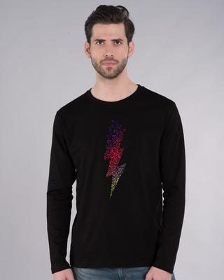 Shop Music Thunder Bolt Full Sleeve T-Shirt-Front