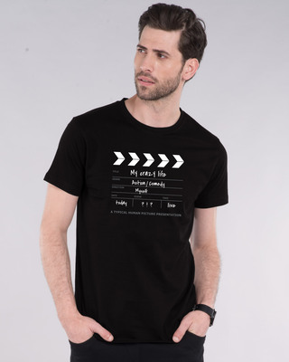 Shop My Life As A Movie Half Sleeve T-Shirt-Front
