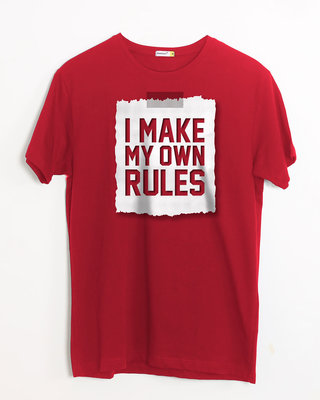 Shop My Own Rules Half Sleeve T-Shirt-Front