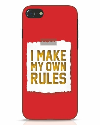 Shop My Own Rules iPhone 7 Mobile Cover-Front