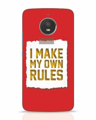 Shop My Own Rules Moto E4 Plus Mobile Cover-Front