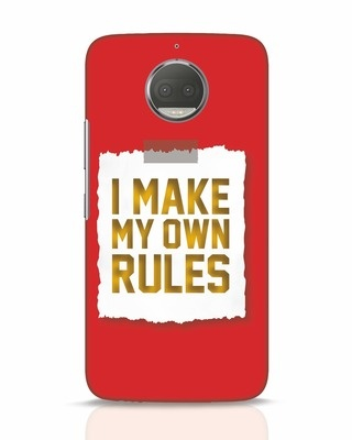 Shop My Own Rules Moto G5s Plus Mobile Cover-Front