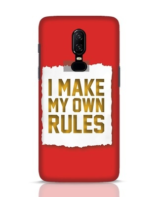 Shop My Own Rules OnePlus 6 Mobile Cover-Front
