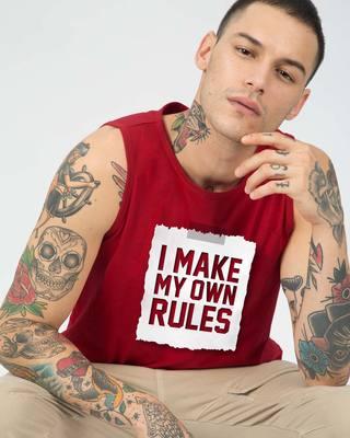 Shop My Own Rules Vest-Front
