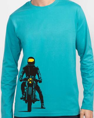 Shop My Ride Full Sleeve T-Shirt Tropical Blue-Front