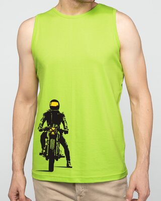 Shop My Ride Round Neck Vest Neon Green-Front