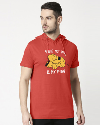 Shop My Thing Half Sleeve Hoodie T-shirt-Front