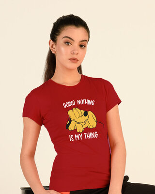 Shop My Thing Half Sleeve T-Shirt (DL) Bold Red-Front