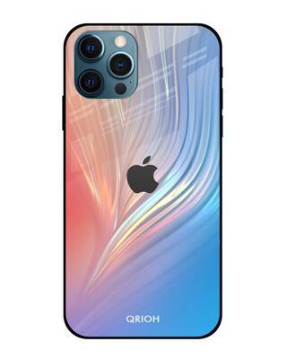 Shop Qrioh Mystic Aurora Glass Case for iPhone 12 Pro Max-Front
