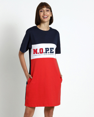 Shop N.O.P.E Color Block Dress-Front