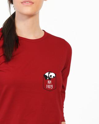 Shop Na Hoy Round Neck 3/4 Sleeve T-Shirts-Front