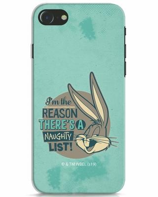 Shop Naughty List iPhone 7 Mobile Cover (LTL)-Front