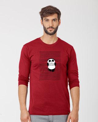 Shop Naughty Panda Full Sleeve T-Shirt-Front