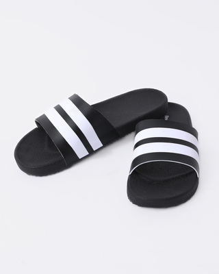 Shop Nautical Black Stripe Sliders-Front