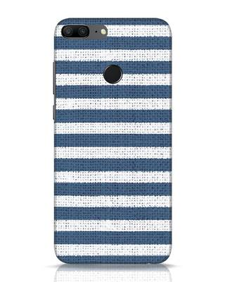 Shop Nautical Stripes Huawei Honor 9 Lite Mobile Cover-Front
