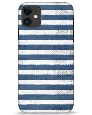Shop Nautical Stripes iPhone 11 Mobile Cover-Front