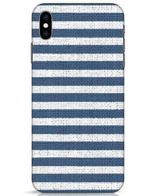 Shop Nautical Stripes iPhone XS Max Mobile Cover-Front