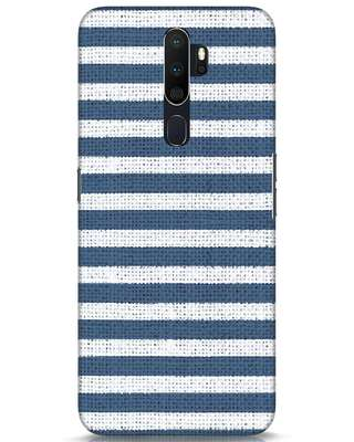 Shop Nautical Stripes Oppo A5 2020 Mobile Cover-Front