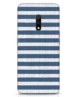 Shop Nautical Stripes Realme X Mobile Cover-Front