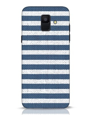 Shop Nautical Stripes Samsung Galaxy A6 2018 Mobile Cover-Front