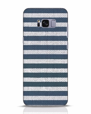 Shop Nautical Stripes Samsung Galaxy S8 Plus Mobile Cover-Front